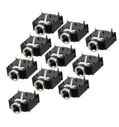 10 pcs 3 pin pcb mount female 3 5mm stereo jack socket 4mm socket dual 3 5 [ 1100 x 1100 Pixel ]