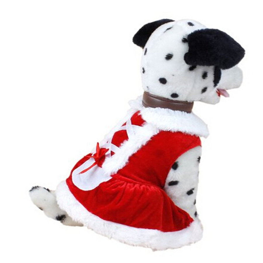 Christmas Dog Clothes Santa Doggy Costumes Clothing Pet