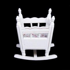 Rocking Chair And Cradle In One Purple Kids Desk 1 12 Dollhouse Miniature White Wood Kindergarten