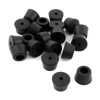 20pcs 13x10x10mm Black Rubber Chair Feet Pads Tile Floor ...