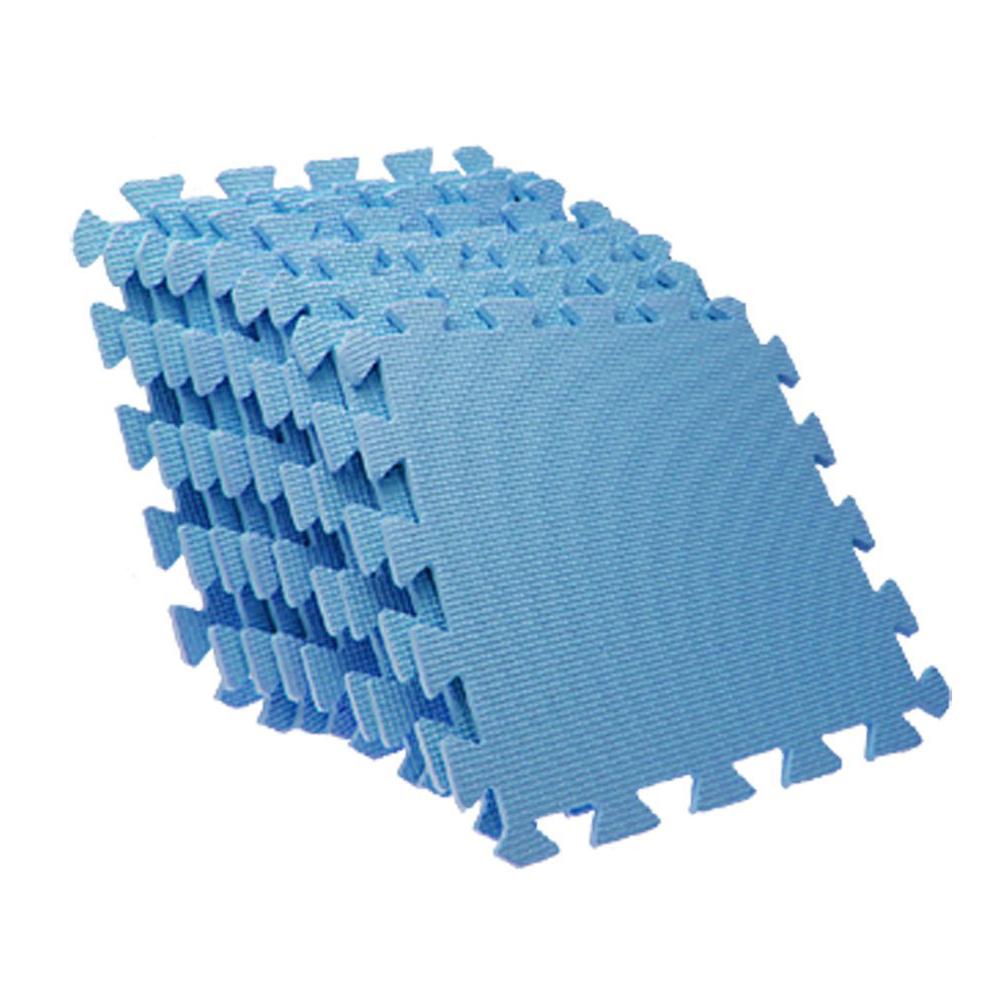 EVA Puzzle Foam AntiFatigue Blue Interlocking Floor Mats