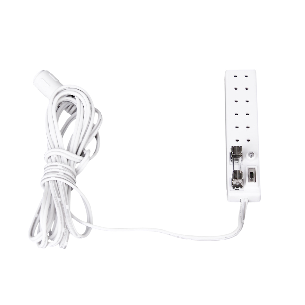 Dollhouse 1:12 Scale 6 Receptacles Power Strip Transform