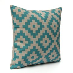 How To Make Sofa Cushions Harder Little Mermaid Chair Geometric Cotton Linen Cushion Cover Throw Pillow Case