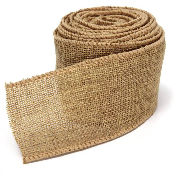 704q4 Natural Jute Hessian Burlap Ribbon Roll Belt Strap