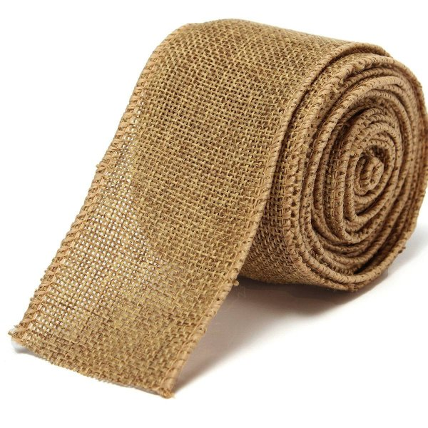 Natural Jute Hessian Burlap Ribbon Roll Belt Strap Rustic