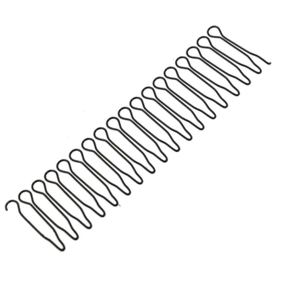 5 Pcs Black Metal Wave Wire Hoop Styling Flexible Headband