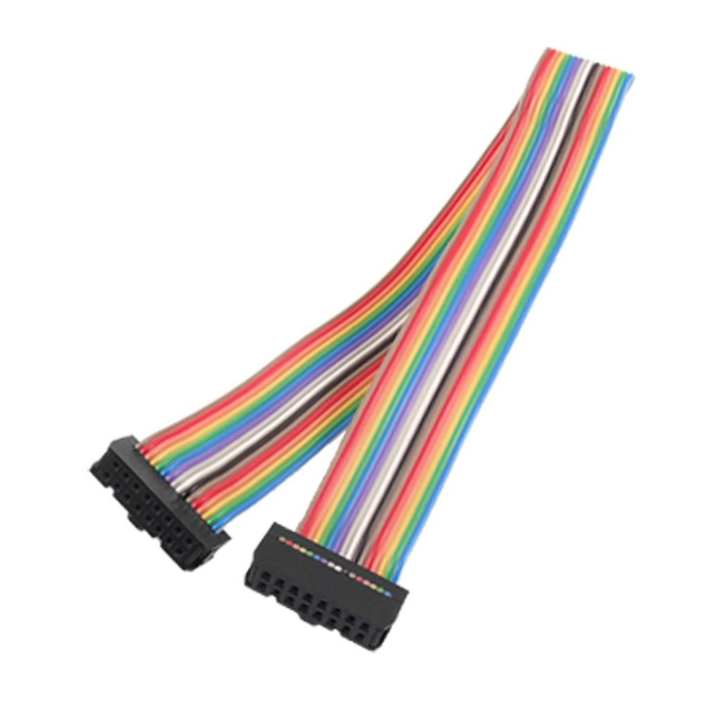 medium resolution of details about 2 54mm pitch 16pin female to female idc connector rainbow ribbon flat cable ad