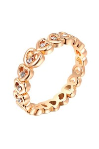 Gold Plated Heart Ring/Thumb Ring with Zircon Rhinestone ...
