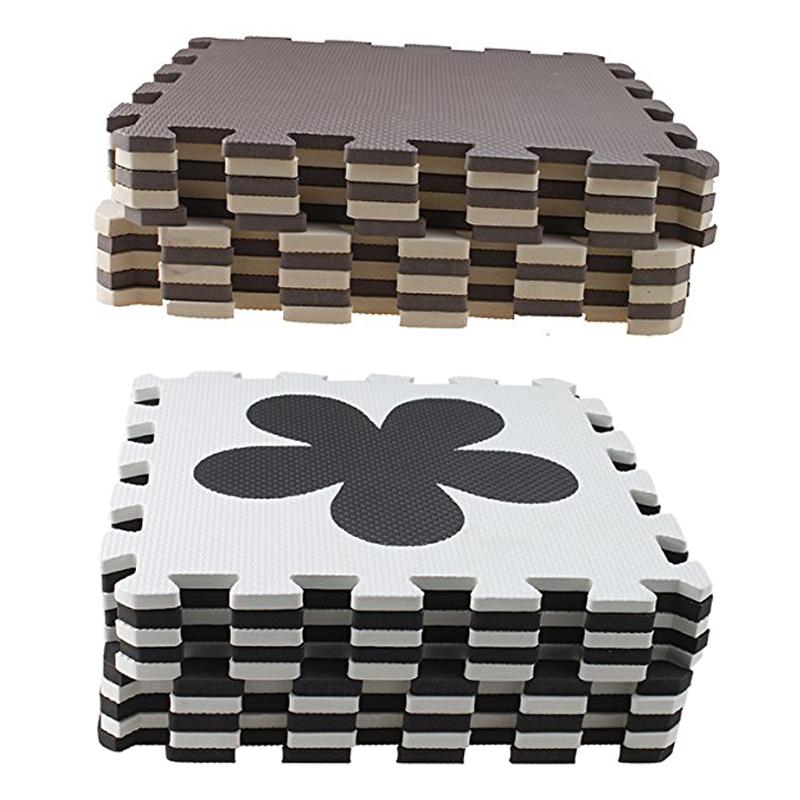 10 Piece Eva Foam Puzzle Exercise Mat Interlocking Floor