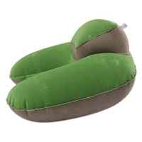 FL UK Inflatable Neck Pillow Soft Travel Air Cushion Sleep