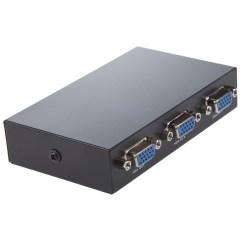 2 Way Splitter Six Pin Trailer Plug Wiring Diagram Round Press Button Two Vga Switch Black Lw Ebay