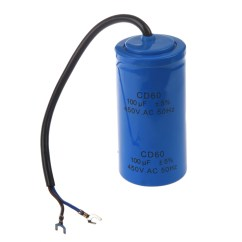 Run Capacitor W124 Stereo Wiring Diagram 100uf 450v Ac Cd60 2 Black Wire Lead Motor Start