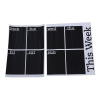 Calendar Blackboard Removable Wall Sticker Chalk Board