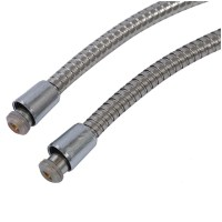 "3m Long Stainless Steel 1/2"" Bath Shower Flexible Hose Pipe DW"