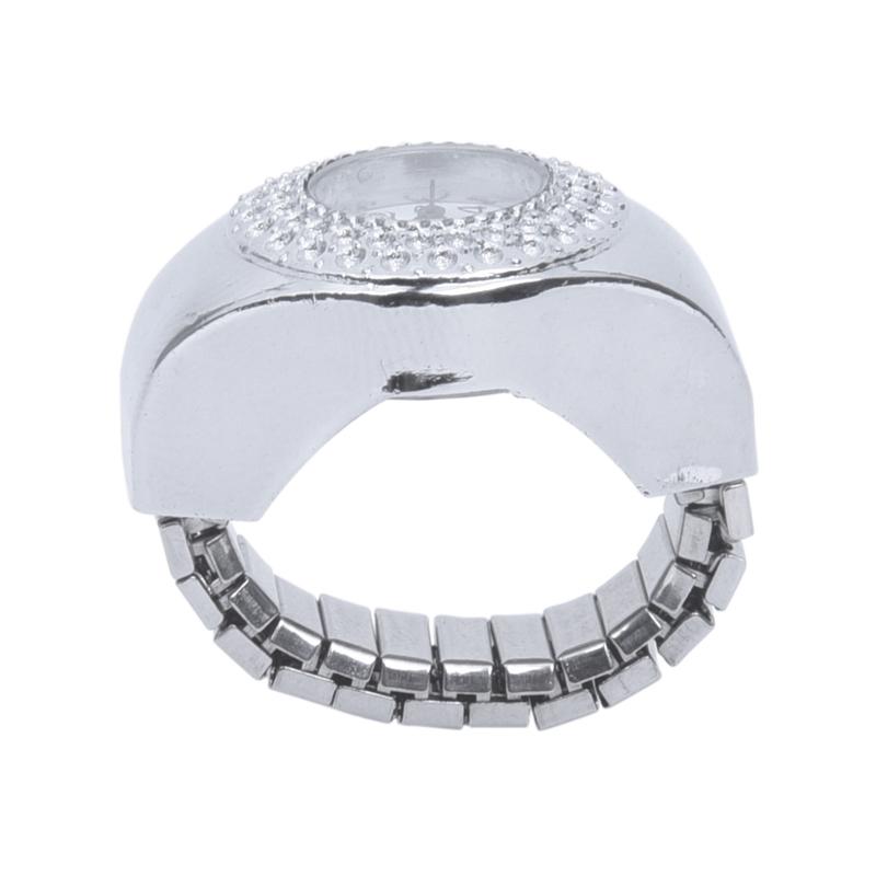 Top Damen Quarzuhr Ringuhr Ring Uhr Finger uhr Uhrenring