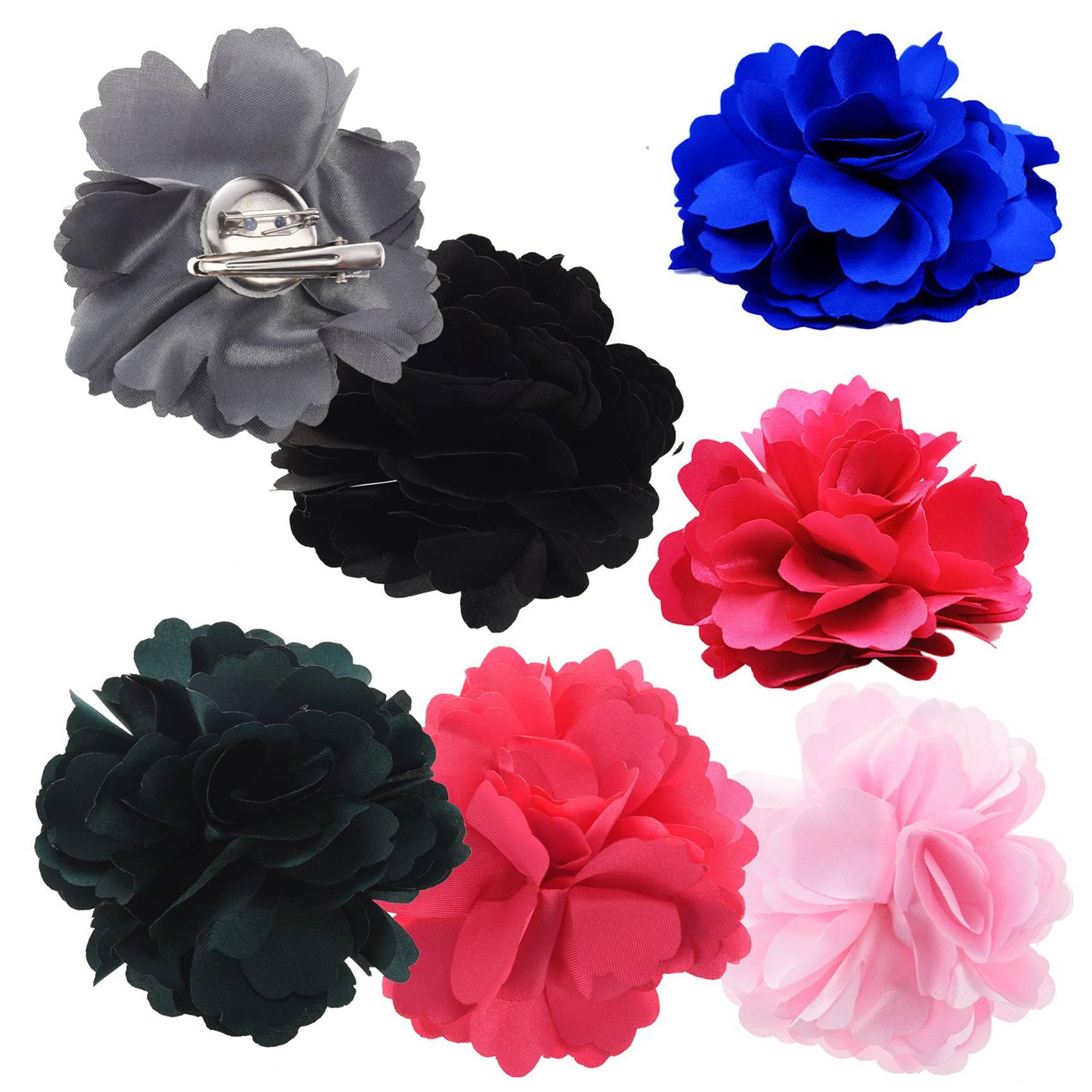 Silk Flower Hair Clip Wedding Corsage Flower Clip 8cm