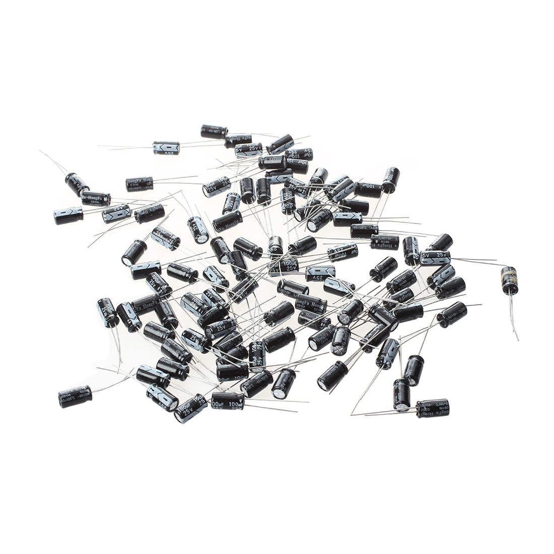 100 Pcs 6 X 11mm 100uf 25v Radial Aluminum Electrolytic