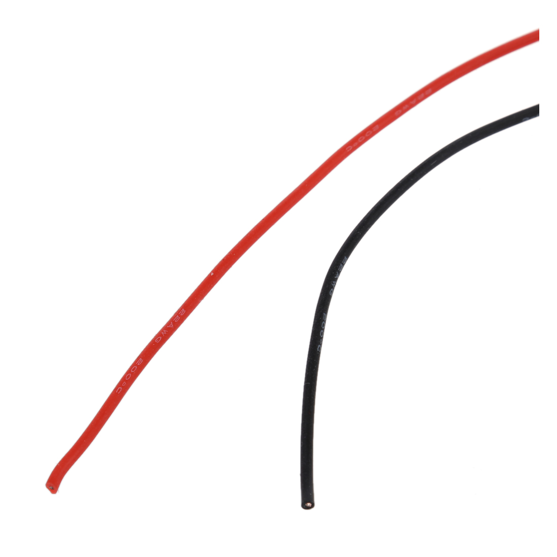 2x 3m 22 Gauge Awg Silicone Rubber Wire Cable Red Black