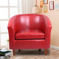 Leather Tub Chair Armchair for Dining Living Room Office ...