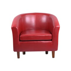 Leather Bucket Chair Swivel For Bedroom Tub Armchair Dining Living Room Office