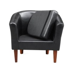 Brown Office Guest Chairs Desk Chair Kids Leather Tub Armchair For Dining Living Room