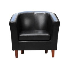 Leather Tub Chair Reclining Gravity Chairs Armchair For Dining Living Room Office