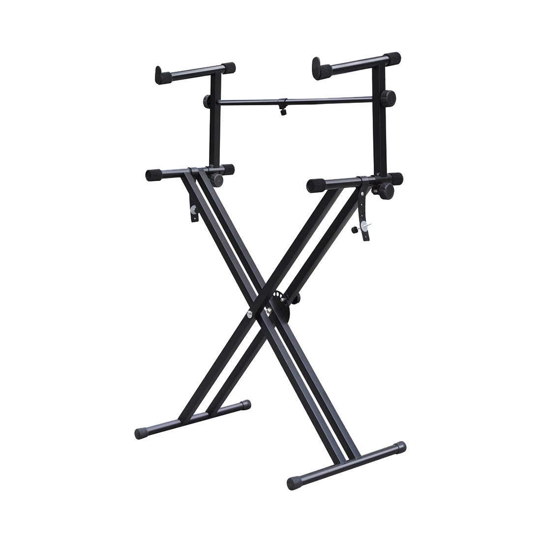 Heavy-Duty X Style Dual Keyboard Stand Electronic Piano