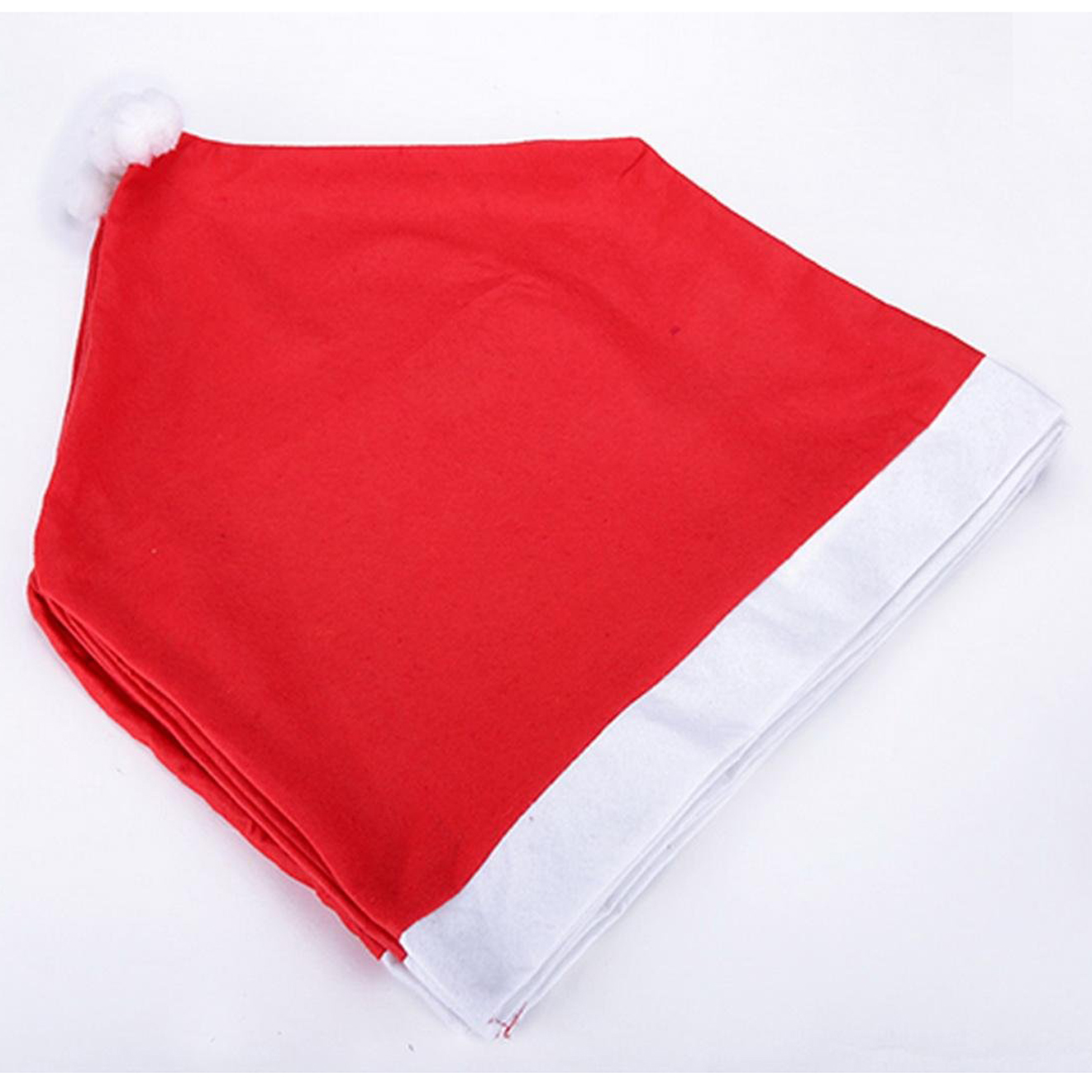 chair covers set of 6 ikea outdoor folding table and chairs santa clause red hat back for