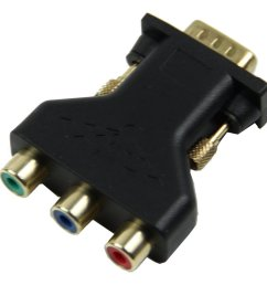 15 pin vga male to 3 rca female m f adapter connecter converter black m5n8 s0j8 4894462751312 ebay [ 1001 x 1001 Pixel ]