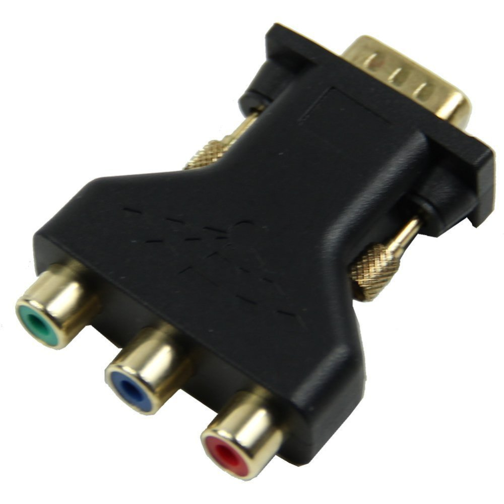 medium resolution of 15 pin vga male to 3 rca female m f adapter connecter converter black m5n8 s0j8 4894462751312 ebay