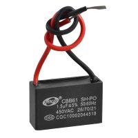 CBB61 AC 450V 1.5uF 2-wire Terminal Ceiling Fan Motor Run ...