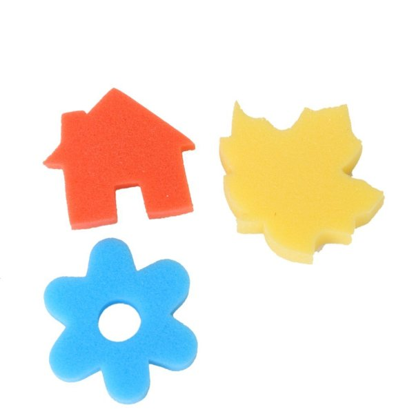 24pcs Different Shapes Children Crafting Painting Sponge