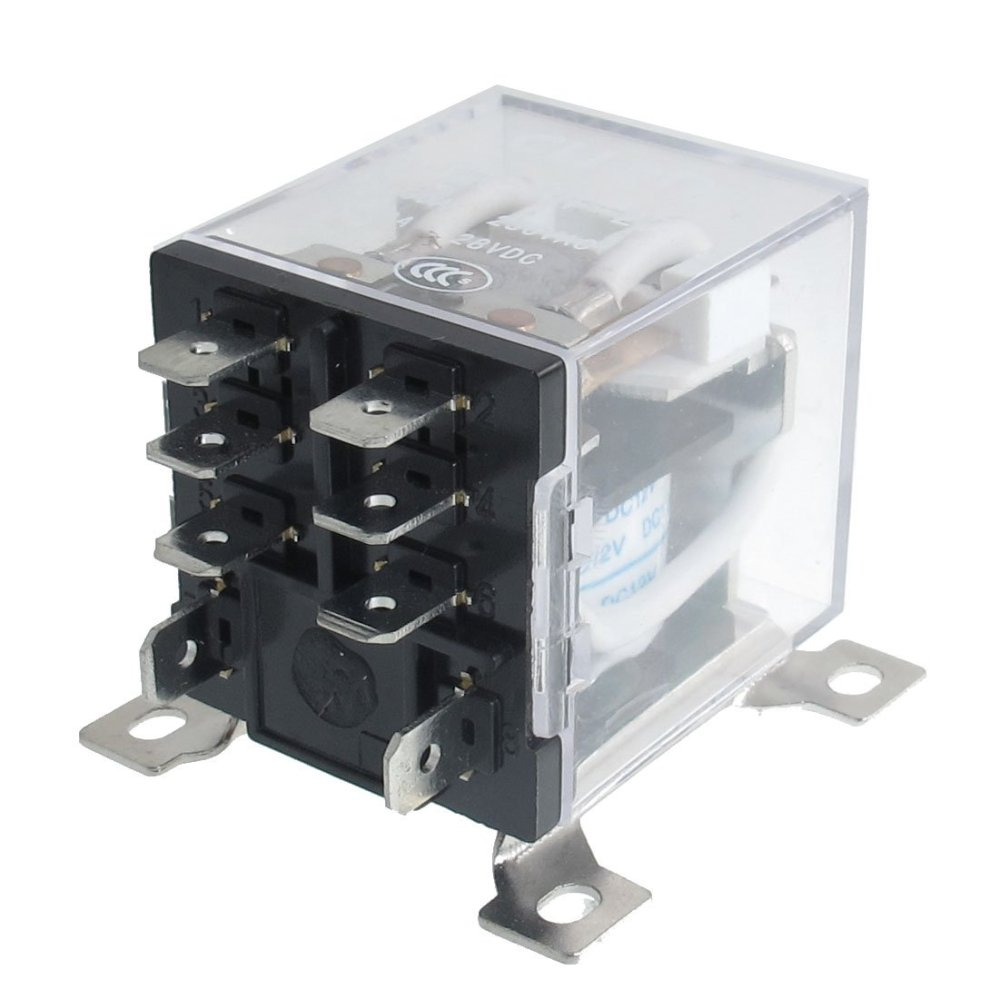 medium resolution of jqx 12f 2z dc 12v 30a dpdt general purpose power relay 8 pin ws rh ebay com au dpdt relay wiring diagram spst relay