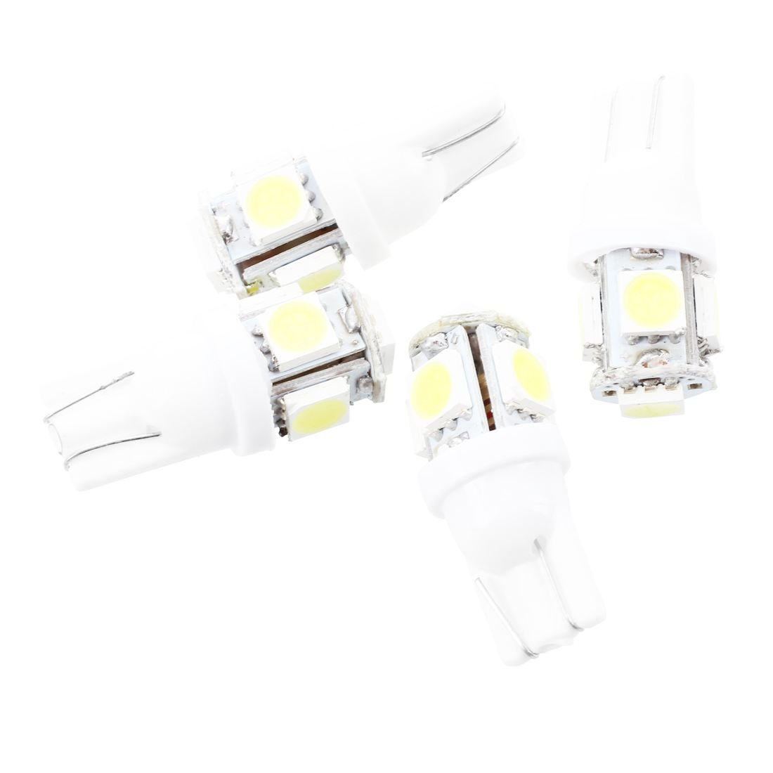 4 X T10 W5w 5 Smd Led White Car Side Wedge Tail Light Lamp