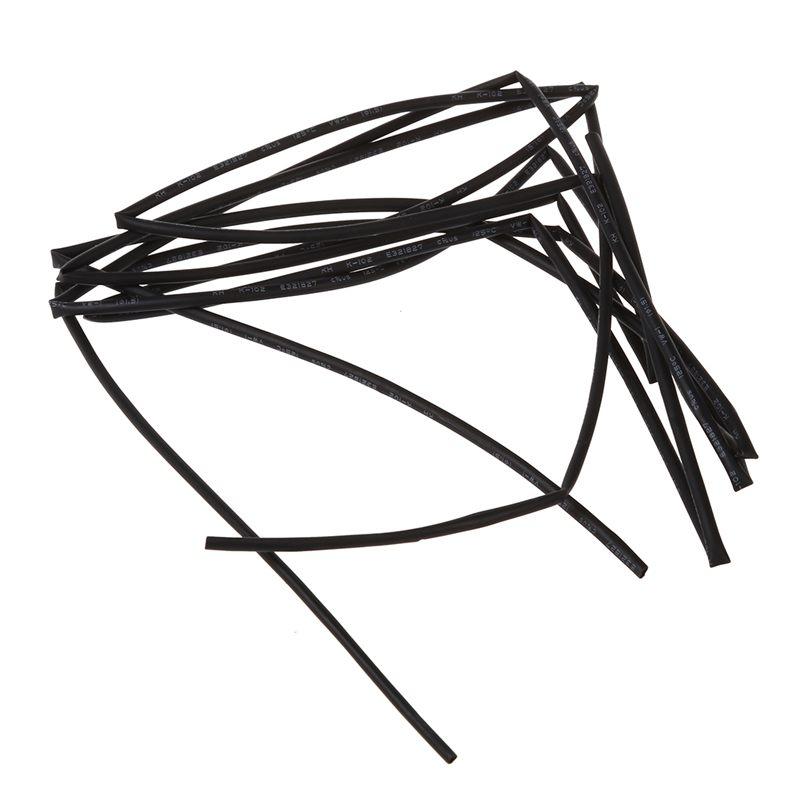 1X(Black 1.5mm Dia. Heat Shrink Tubing Shrinking Tube