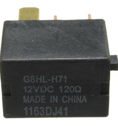 voltage 12v dc 120 ohm material plastic iron copper silver oem cross refernce g8hl h71 fitment just for reference for honda cr v 2007 on  [ 1001 x 1001 Pixel ]