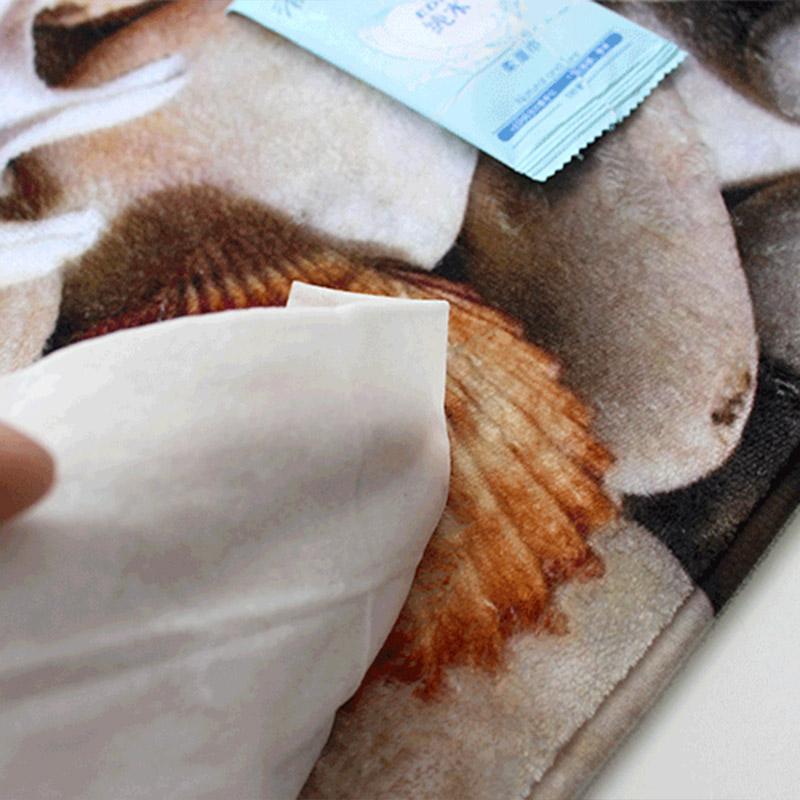 3D Badeteppich Muster Teppich Muschel Badematte Flanell saugfaehige rutschf Y2H5  eBay