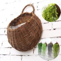 Artificial Flowers Wall Mounted Basket Wall hanging plant ...