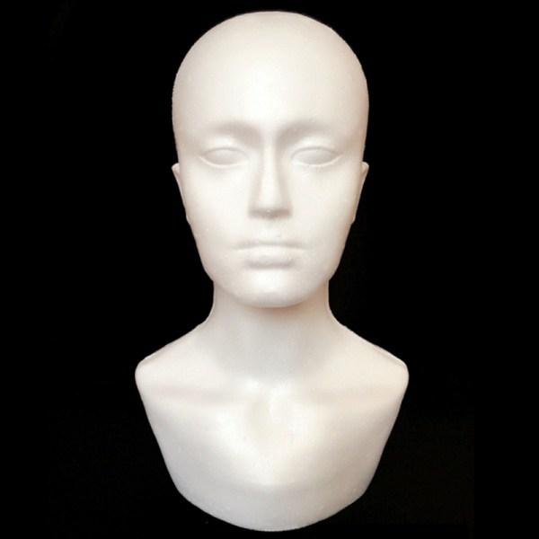 Foam Male Display Mannequin Head Dummy Wigs Hat Scarf