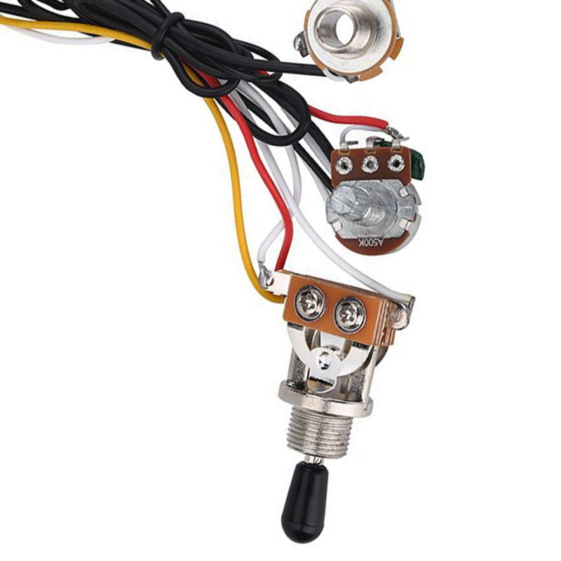 Guitar Wiring Harness 3 Way Toggle Switch 500k Volume Tone Jack For Lp