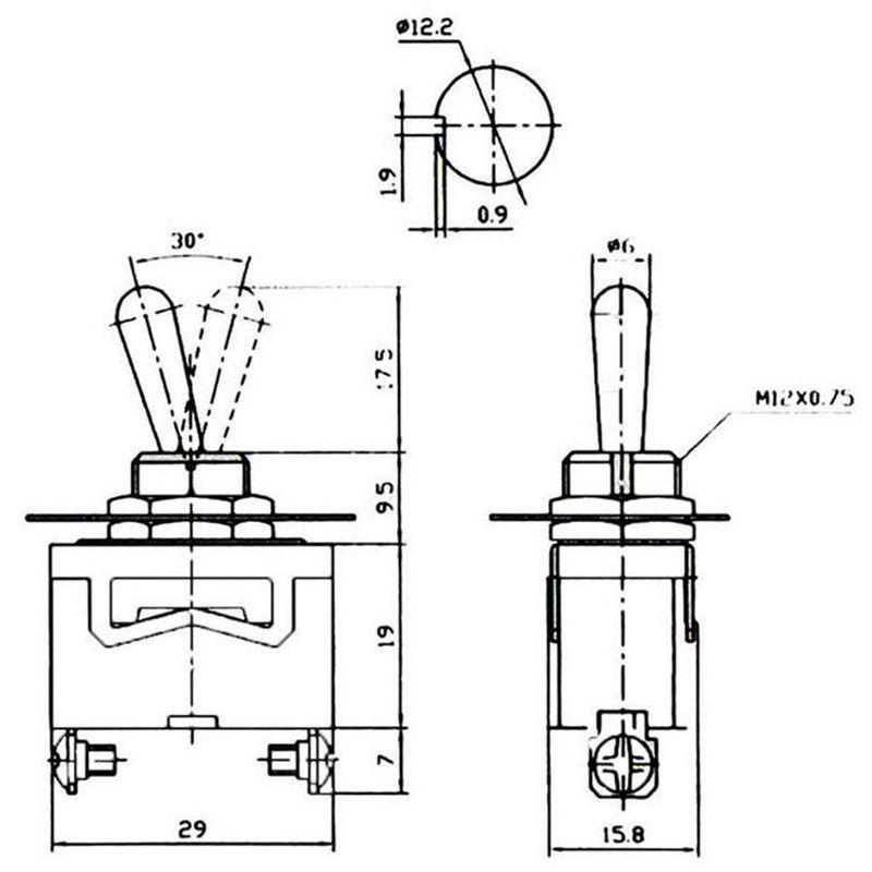 2X(Heavy Duty Rocker Toggle Switch 10A 125V SPST 2 Pin ON
