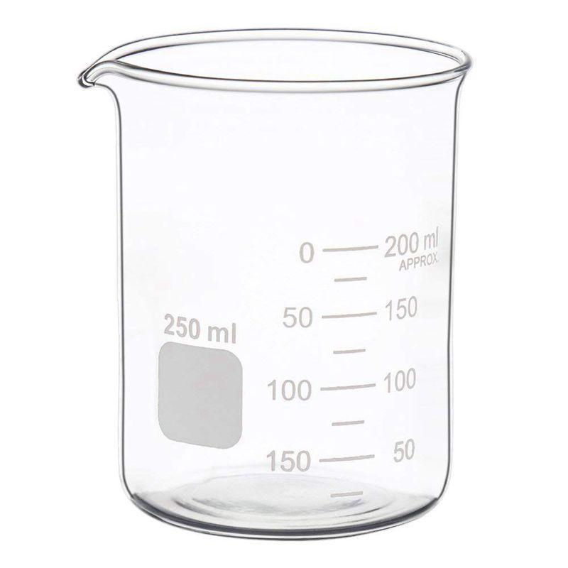 Glass Measuring Low Form Beaker Set 50ml 100ml 250ml Glass