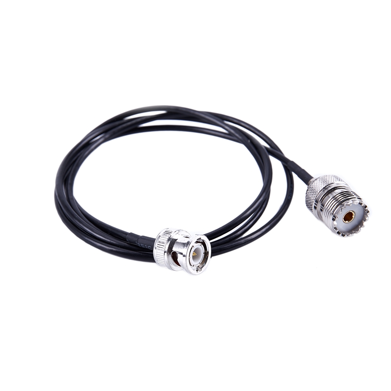 RF UHF VHF Radio coaxial antenna cable BNC male to UHF