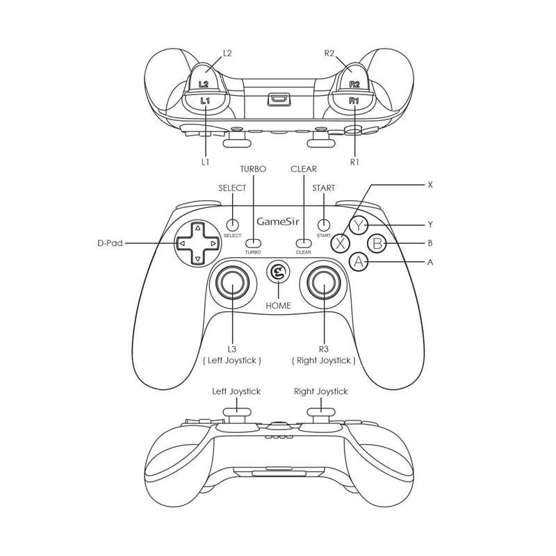 Gamesir G3W Wired Pc Controller For Windows 10/8.1/8/7