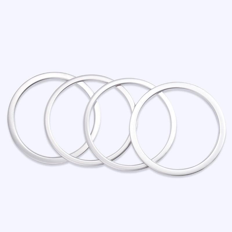 Interior Frame Speaker Box Plated Ring For Nissan Qashqai