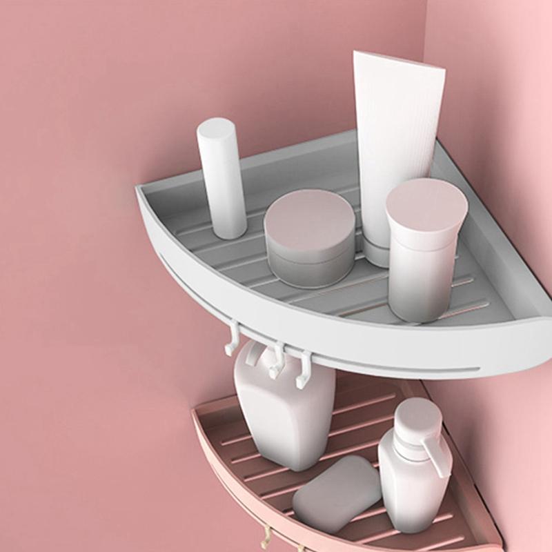 details sur etagere de coin en plastique etagere de salle de bains organisateur snap up a1q4