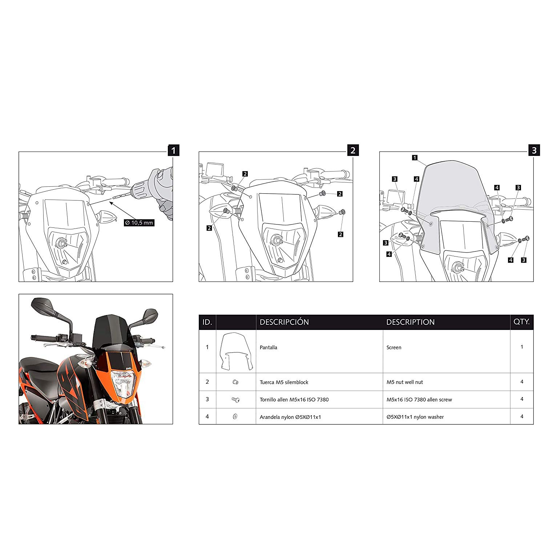 Motorcycle Windshield for 2012-2018 Duke Enduro R 690
