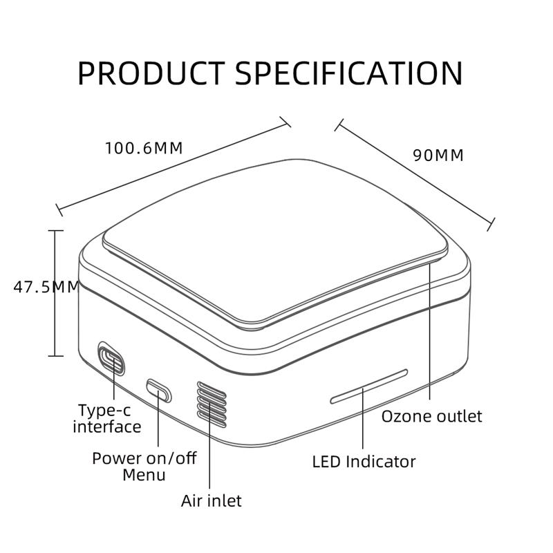 2X(Ozone Generator Deodorizer Air Purifier USB