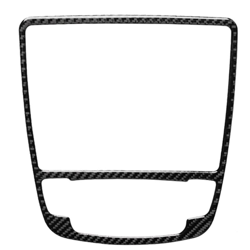 3X(Carbon Fibe Gear Shift Panel Trim Frame Decorative