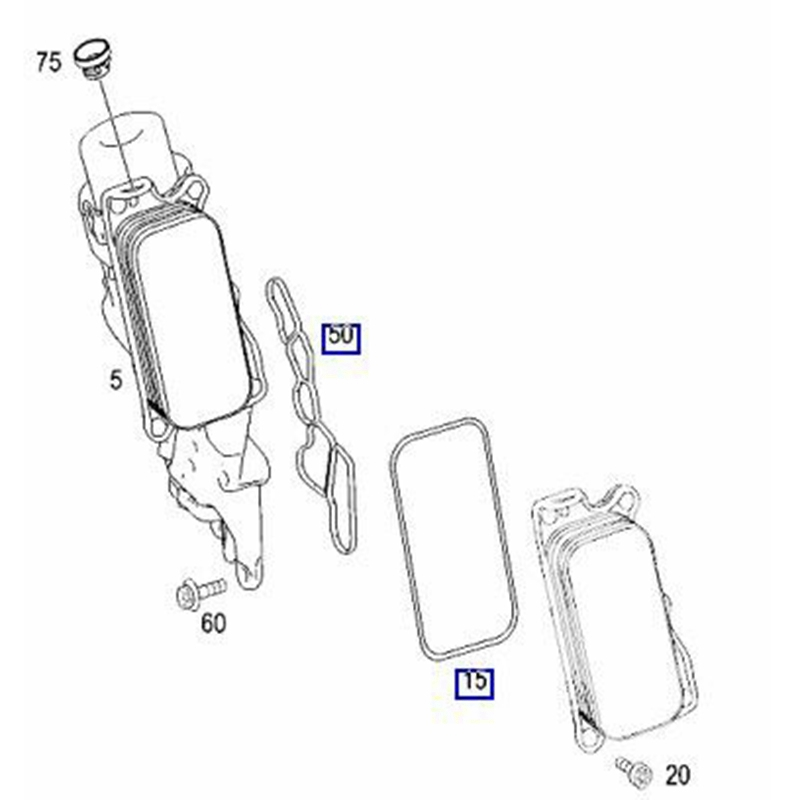 5X(2721840280 Engine Oil Filter Housing + Timing Case